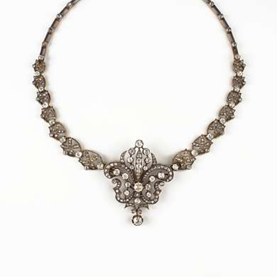 Victorian gold and diamond transformable necklace