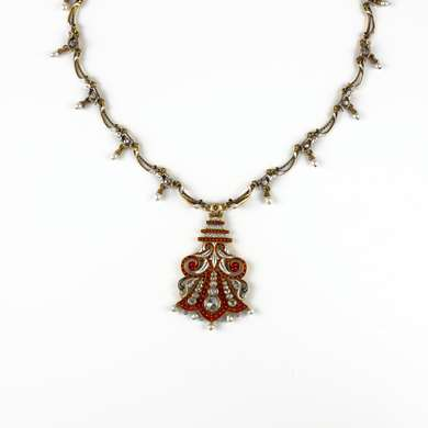 Gold and enamel necklace by Carlo & Arthur Giuliano