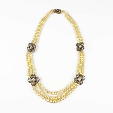 Belle Epoque pearl draperie necklace