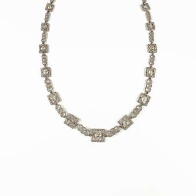 Gold and platinum diamonds necklace