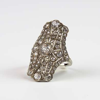 Belle Epoque  gold and diamonds ring