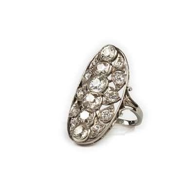 Belle Epoque platinum and diamond ring