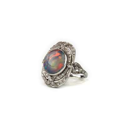 opal and diamonds ring
