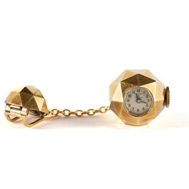 Gold watch pin-brooch by Van Cleef & Arpels
