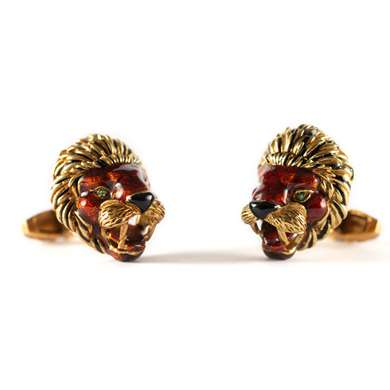 Gold and enamel cufflinks by Frascarolo