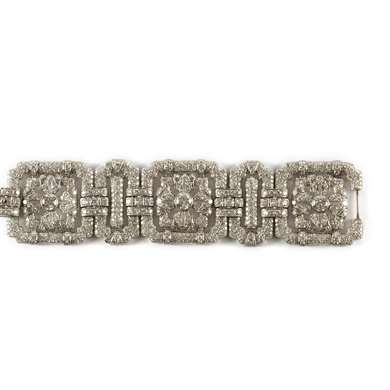 Art Déco platinum and diamond bracelet