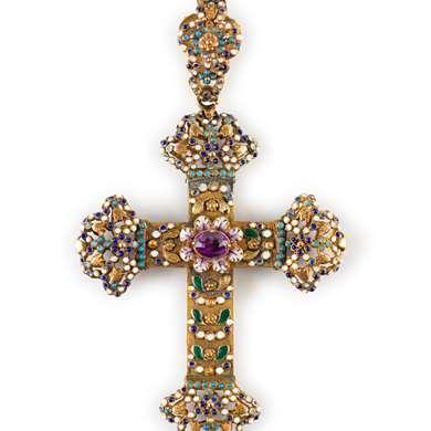 Neo Renaissance cross pendant