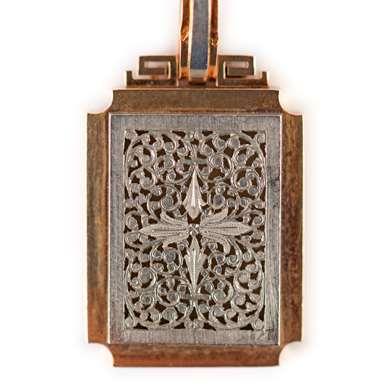 Gold and platinum pendant
