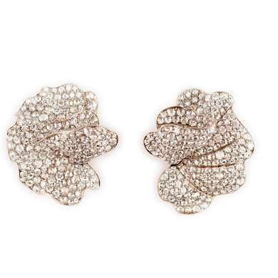 Gold and diamond earclips
