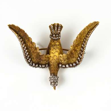 Victorian dove brooch