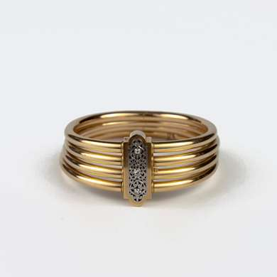 French Late 19th gold bangle