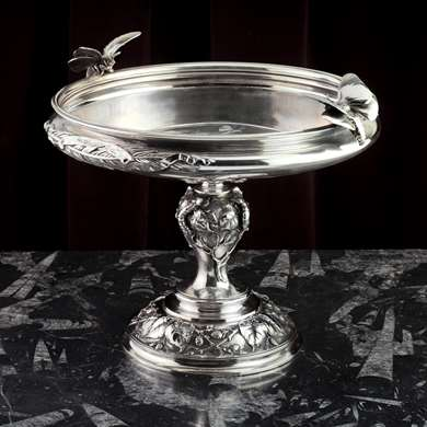 A french silvered-bronze cup