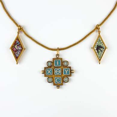 Neo Antique and micro mosaique necklace from Castellani